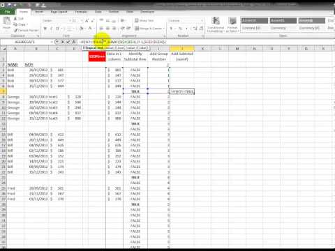 Video 00062 Learn Excel: Add Sporadic Totals
