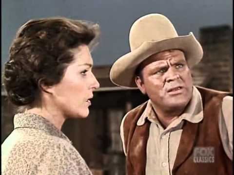 Majel Barrett and James Doohan in BONANZA (1962)
