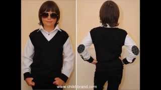 Стильный школьный детский жилет с рубашкой  для мальчика 5 лет 6 лет 7 лет 8 лет 9 лет 10 лет 11 лет