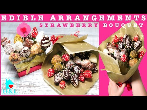 How to make an EDIBLE ARRANGEMENTS (STRAWBERRY BOUQUET)|| Health and Lifestyle