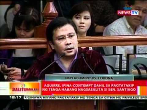 BT: Sen. Santiago, uminit ang ulo sa pagbawi ng Prosekusyon sa 5 articles of impeachment (030112)