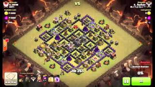 [Clash of Clans - War] TH9 Lavaloonion attack collections #1