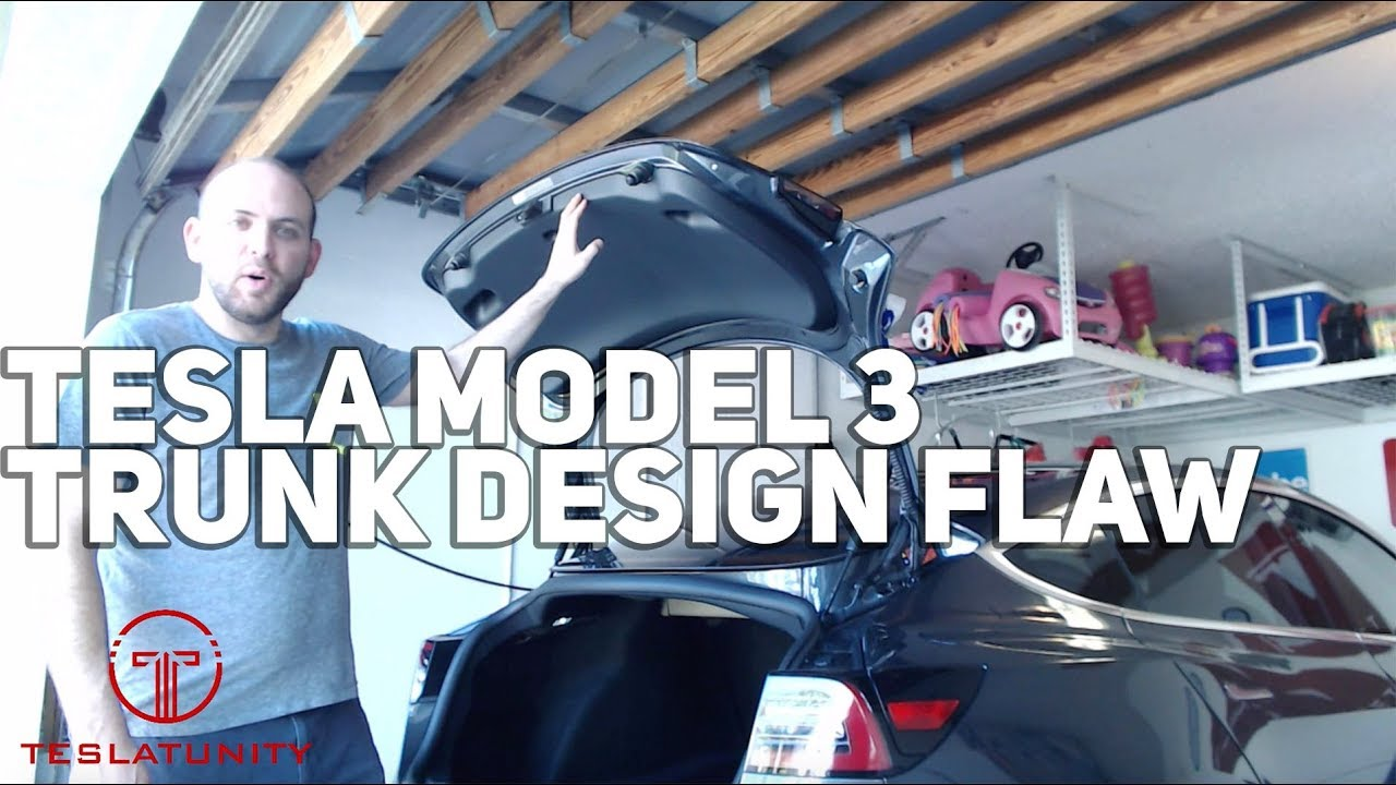 Tesla Model 3 Trunk Design Flaw