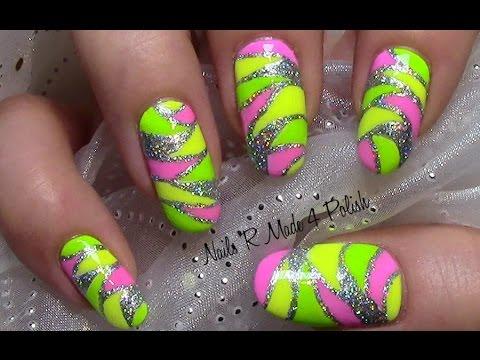 mosaik n gel buntes sommer nageldesign colorful nail art design tutorial youtube. Black Bedroom Furniture Sets. Home Design Ideas
