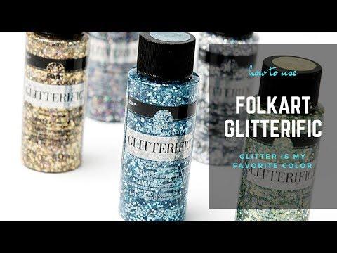 How to use FolkArt Glitterific - YouTube