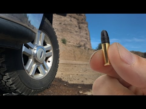 Will a .22 Bullet Go Through A Tire?