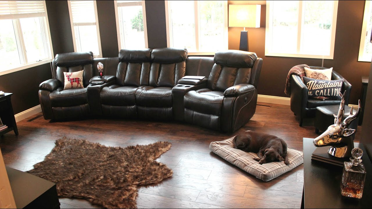 living room tour man cave tour youtube. Black Bedroom Furniture Sets. Home Design Ideas