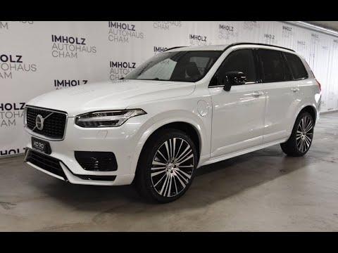 Volvo Xc90 T8 Te Plug In Hybrid R Design 7 Sitzer Eaw Crystal White Pearl Weiss Metallic Youtube