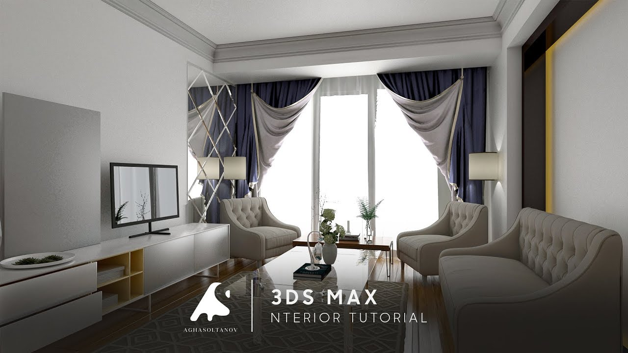 3ds max 2017 interior tutorial modeling design youtube for Decoration 3ds max