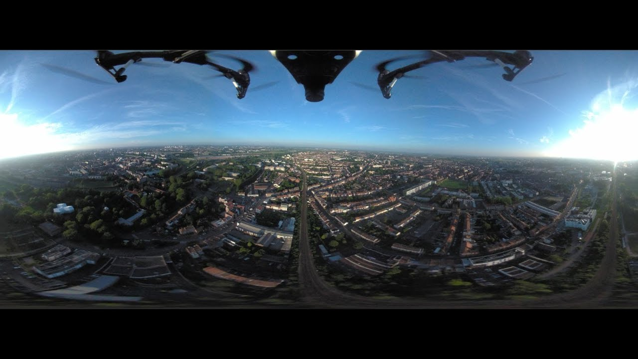 360 full spherical video camera view fix on a dji inspire 1