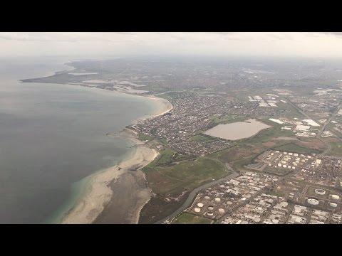 Flying - Landing Into Melbourne Airport (Victoria, Australia) on QANTAS