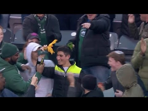 Marcus Peters Throws A Referee's Flag Into The Crowd | Chiefs vs. Jets | NFL