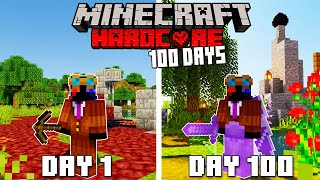 I Survived 100 Days In HARDCORE Minecraft...Here's What Happened
