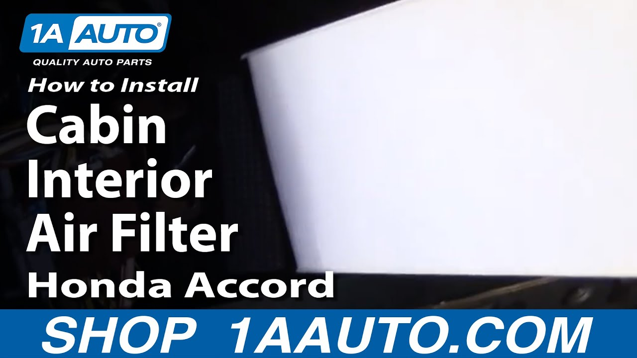 How To Install Replace Cabin Interior Air Filter Honda Accord 98 02 Civic Electrical Wiring 1aautocom