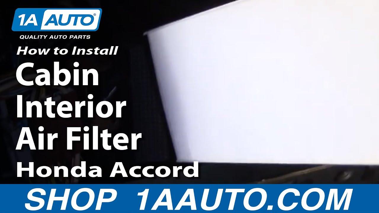 2003 Honda Civic Ex Fuel Filter Location How To Install Replace Cabin Interior Air Filter Honda