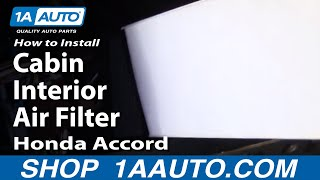 How to Replace Cabin Air Filter 98-02 Honda Accord