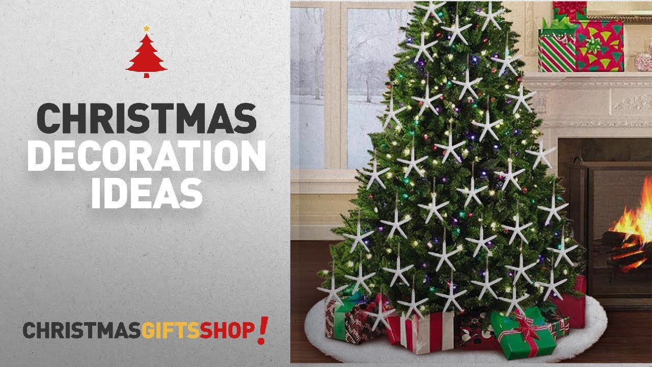 top beach christmas decorations aerwo 20pcs white artificial resin starfish with rope hanging