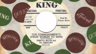 TEN COMMANDMENTS (FROM WOMAN TO MAN) - PRINCESS BUSTER AND HER JAMAICANS