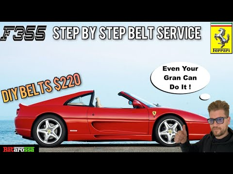 Ferrari 355 Timing Cam Belt Service – Step By Step DIY Guide. Here's How to SAVE $Thousands in Bills