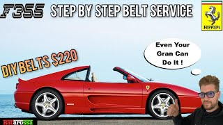 Ferrari 355 Timing Cam Belt Service - Step By Step DIY Guide. Here's How to SAVE $Thousands in Bills