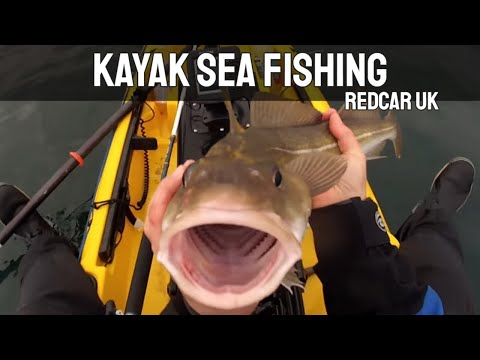 Kayak Sea Fishing: A Cod Fishing Session At Redcar UK - Gopro