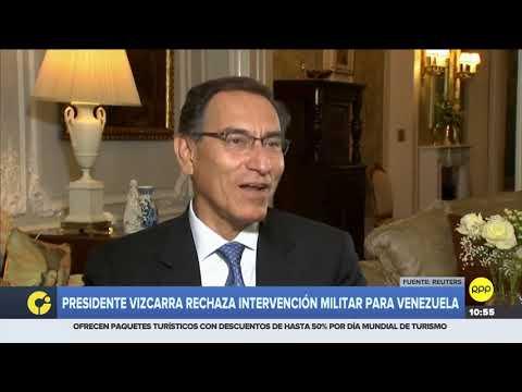 """Martín Vizcarra sobre crisis en Venezuela: """"Rechazamos una solución militar"""""""
