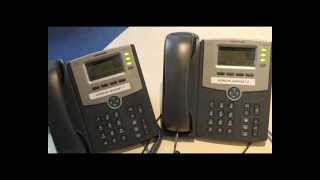 Cisco SPA504G Handsets - How to Answer an Incoming Call