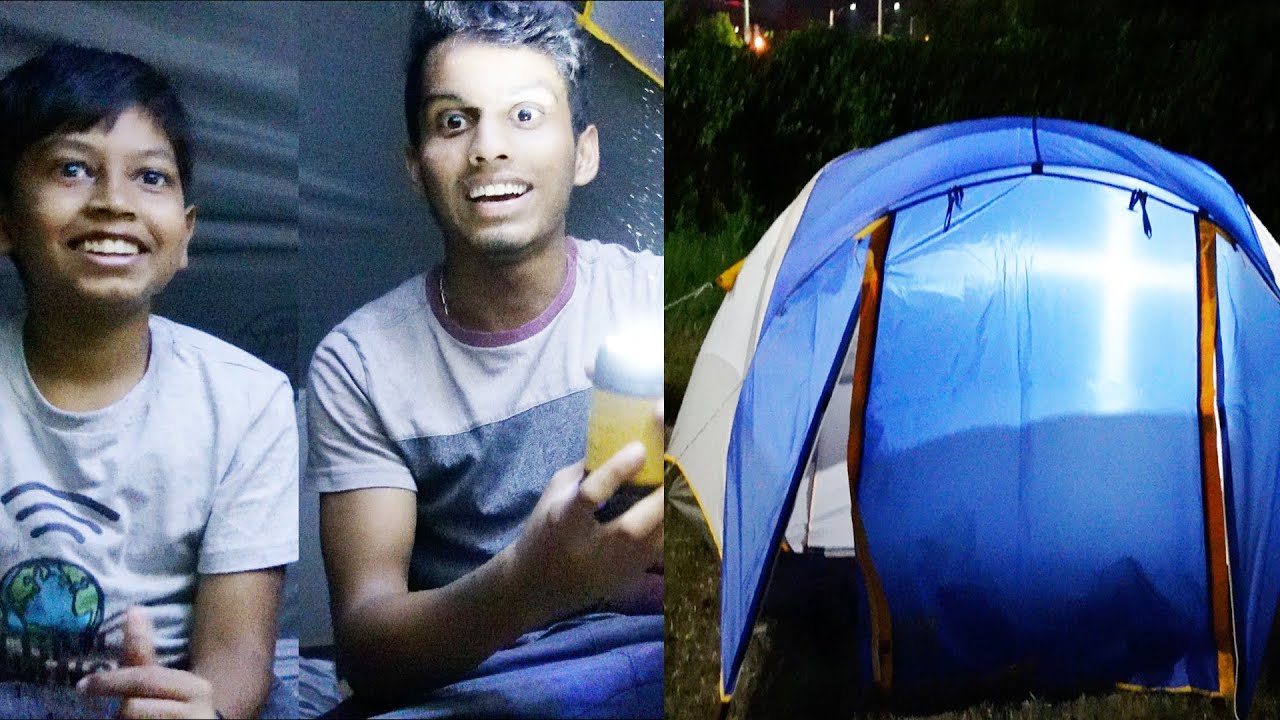 Night Camping in Tent !! | கூடாரத்திற்குள் ஓர் இரவு | Tent Camping Vlog in Tamil | VelBros Tamil