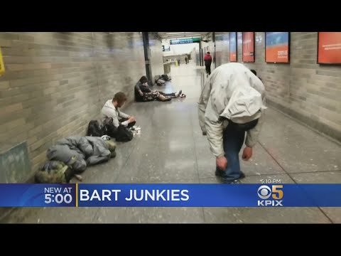 Junkies Take Over Corridors Of San Francisco Civic Center BART Station