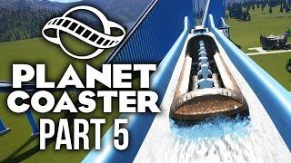 Planet Coaster Gameplay Walkthrough Part 5 - CRAZY LOG FLUME BUILD (Water Log Ride)