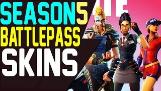 NOUVEAU Fortnite Battle Pass Saison 5 LEAKED SKINS Blockbuster SKINS Tier 100