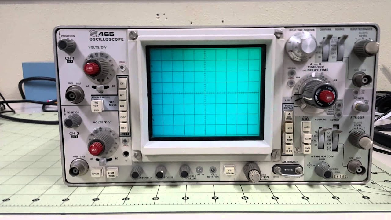 Schemi Elettrici Oscilloscopio : Tektronix project youtube
