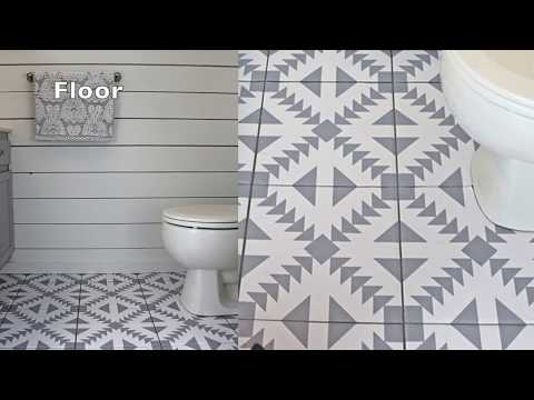Tile Sticker Application By SnazzyDecal
