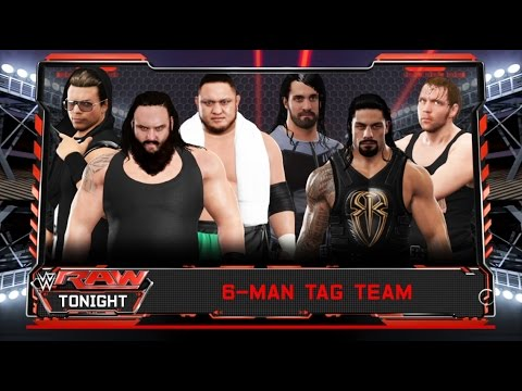The Shield  vs. Braun Strowman & The Miz  & Samoa Joe -6 Man Tag Team match-RAW 2017- WWE 2K17