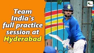 Watch: Indian cricket team's full practice session ahead of 1st ODI | India vs Australia