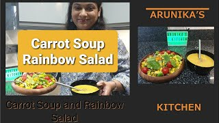 சப &amp சலட  Healthy Soup and Salad Challenge  Arunika&#39s Kitchen