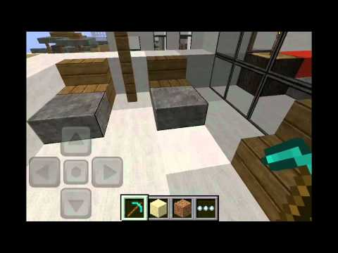 Minecraft pe keralis modern house 1 youtube for Modern house minecraft pe 0 12 1