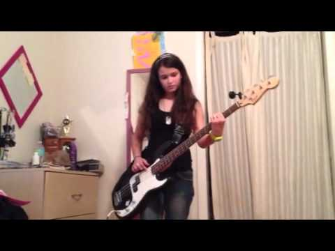 Ana learning desert song on the bass!