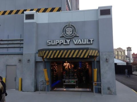 Transformers Supply Vault Gift Shop Universal Studios Florida Opening Day 2013