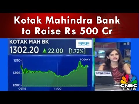 Kotak Mahindra Bank to Raise Rs 500 Cr By Issuing Preference Shares | Halftime Report | CNBC TV18