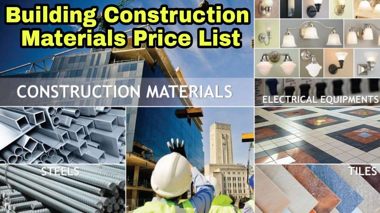 Building Construction Materials ¦¦ Present Market Rates - YouTube