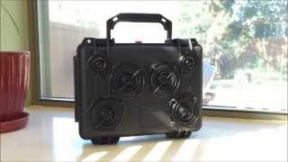 Diy Boombox Pelican 1150 W/philips Lcd Tv Speakers And Logitech Bluetooth!