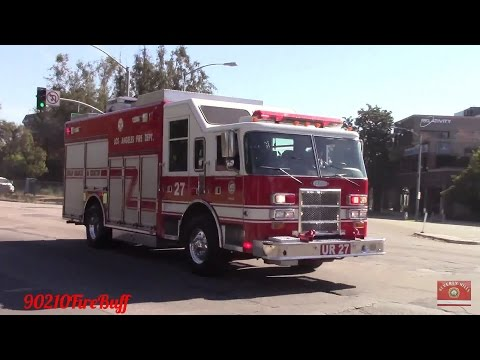LAFD Light Force 27 & USAR 27 Responding