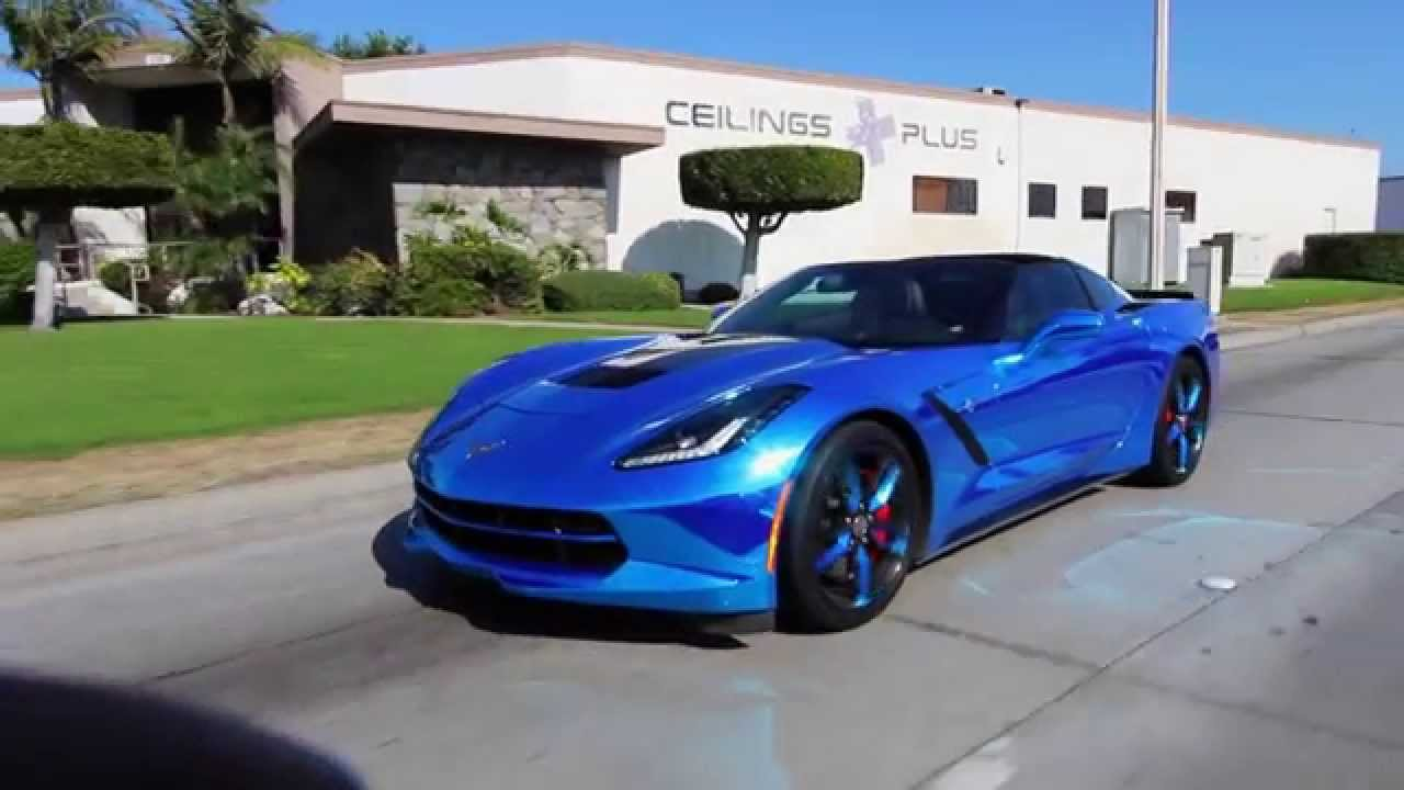 2016 Corvette Z07 >> 2015 Corvette Z07 Stingray (Chrome Blue) - YouTube