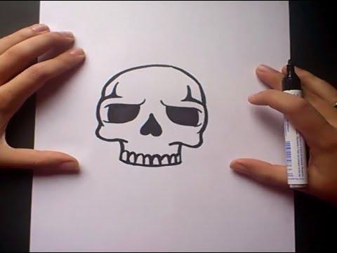 Como dibujar una calavera paso a paso 5  How to draw a skull 5