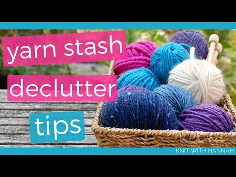 Yarn Stash Declutter (4 Organization Ideas)
