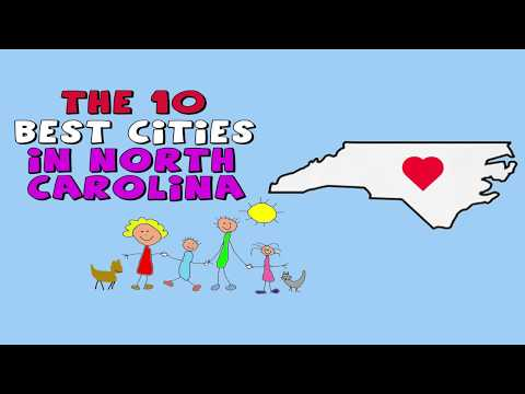 The 10 BEST CITIES To Live In NORTH CAROLINA