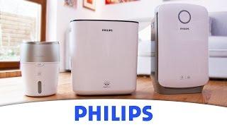 Zestawienie nawilżacze  i oczyszczacze powietrza firmy Philips