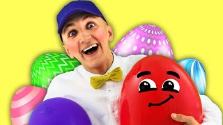 Humpty Dumpty Song for Kids with Egg Surprises | Super Simple Nursery Rhymes. Sing Along With Tiki.