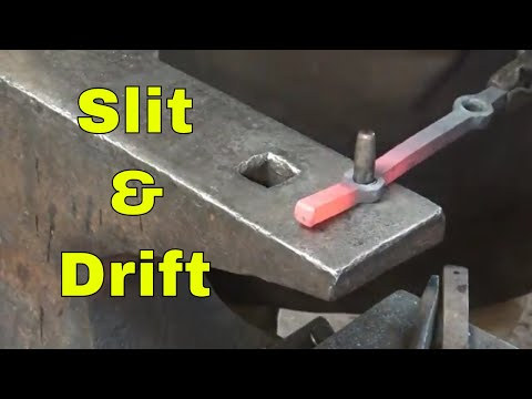 Slitting and drifting holes - ornamental blacksmithing